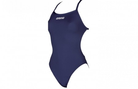 Arena Solid Lightech High Swimsuit Navy Blue