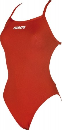 Arena Solid Lightech High Swimsuit Red